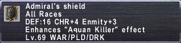 Admirals Shield