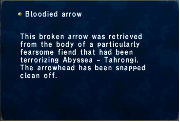 Bloodied arrow