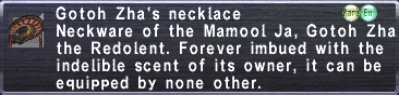 Gotoh Zha's necklace