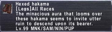 Hexed hakama