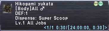 Hikogami yukata info