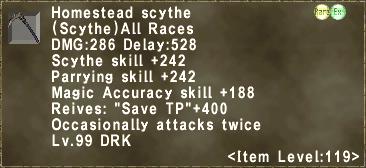 Homestead scythe