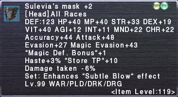 Sulevia's Mask +2