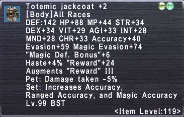 Totemic Jackcoat +2