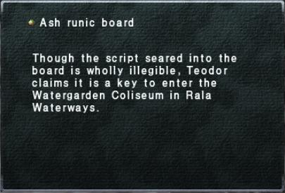 Ash Runic Board