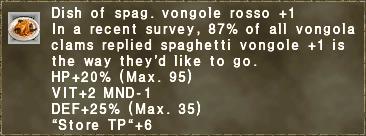 Dish of spaghetti vongole rosso +1