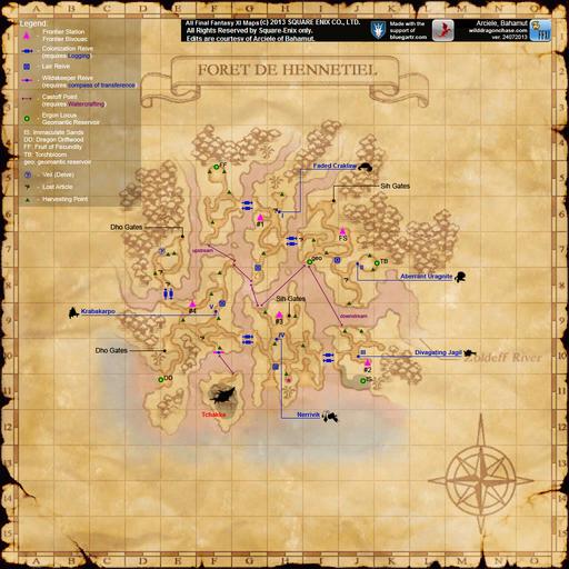 Foret de Hennetiel Map