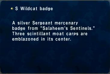 S wildcat badge
