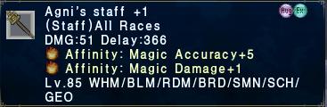 Agni's Staff +1 Macc