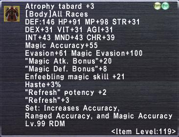 Atrophy Tabard +3