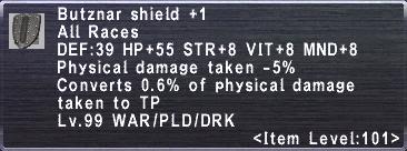 Butznar Shield +1