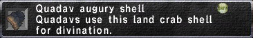 Quadav augury shell
