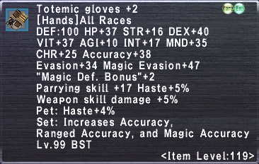 Totemic Gloves +2