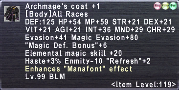 Archmage's Coat +1