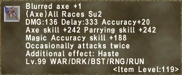 Blurred axe +1