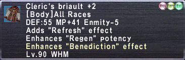 Cleric's Briault +2 (Augmented)