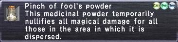 Foolspowder