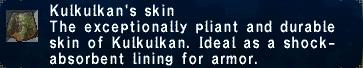 Kulkulkan's skin
