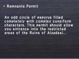 Remnants Permit