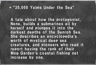 20,000 Yalms Under the Sea