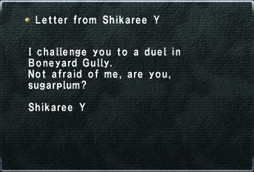 Letter from Shikaree Y
