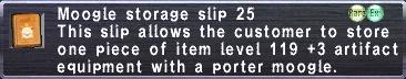 Storage Slip 25