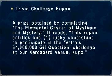 Trivia Challenge Kupon