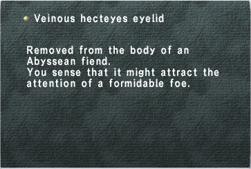 Veinous Hecteyes Eyelid