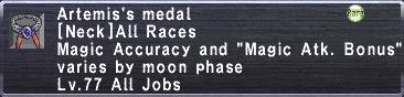 Artemis's Medal