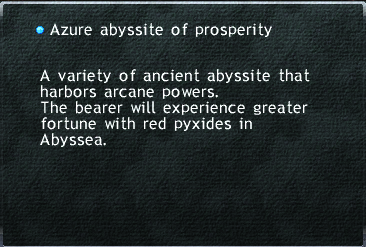 Azure abyssite of prosperity