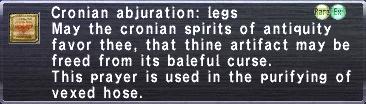 Cronian Abjuration Legs