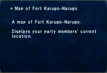 Map Of Fort Karugo - Narugo