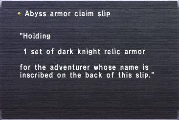 Abyss armor claim slip