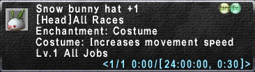 Snow Bunny Hat +1