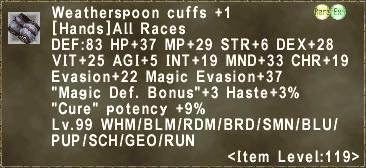Weatherspoon cuffs +1