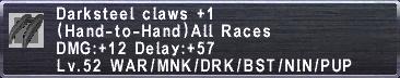 Darksteel Claws +1