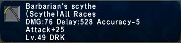 Barbarian's Scythe