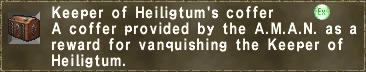 Keeper of Heiligtum's coffer