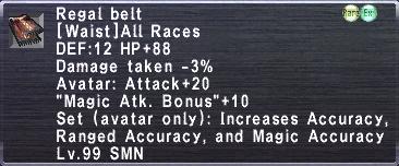 Regal belt