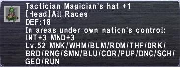 Tactician Magician's Hat+1