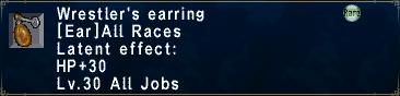 Wrestler's Earring