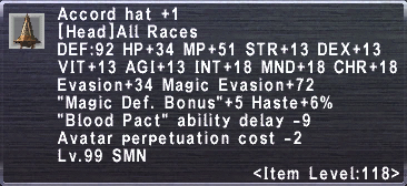 Accord Hat +1
