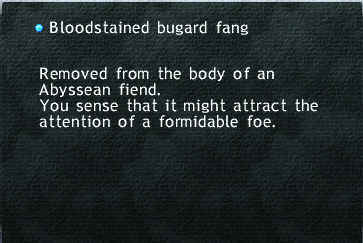Bloodstained bugard fang