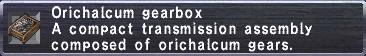 Orichalcum Gearbox