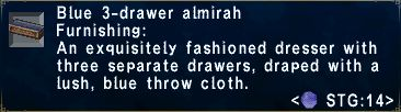 Blue 3drawer almirah