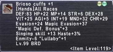 Brioso Cuffs +1