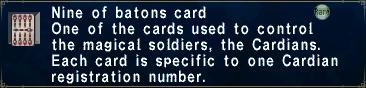 Card nineofbatons
