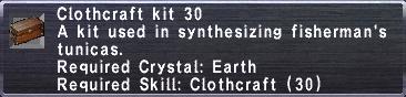Clothcraft Kit 30
