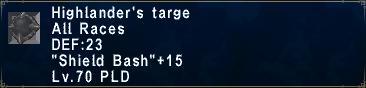 Highlander's Targe