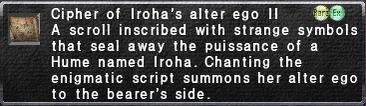 Cipher-Iroha II